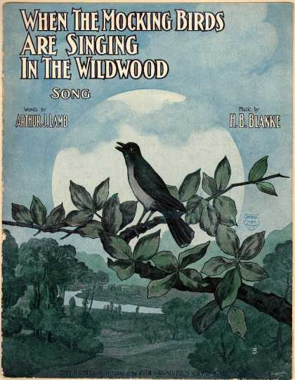 Sheet Music - When the mocking birds are singing in the wildwood