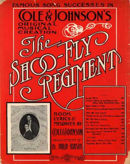 Sheet Music - Won't you be my little brown bear; The Shoo-fly regiment