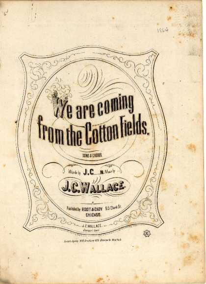 Sheet Music - We are coming from the cotton fields