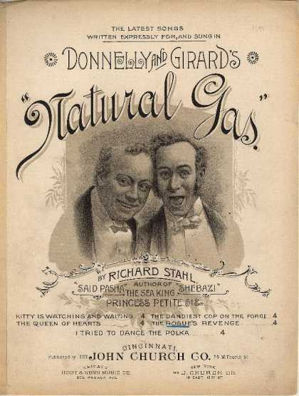 Sheet Music - The rogue's revenge; Donnelly and Girard's Natural gas