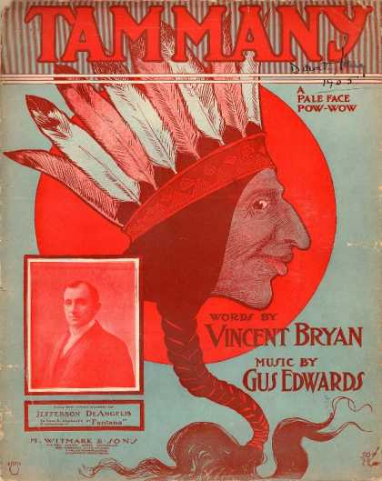 Sheet Music - Tammany; A pale face pow-wow