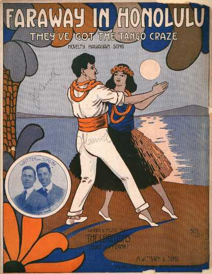 Sheet Music - Faraway in Honolulu; They've got the tango craze; Novelty Hawaiian song
