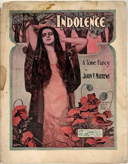Sheet Music - Indolence; Tone fancy; Intermezzo