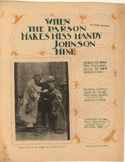 Sheet Music - When the parson makes Miss Mandy Johnson mine; Musical Supplement of the New Yor