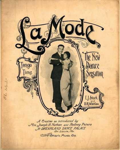 Sheet Music - La mode; Tango time; New dance sensation