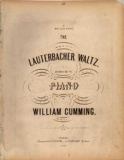 Sheet Music - Lauterbacher waltz