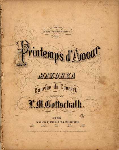 Sheet Music - Printemps d'amour mazurka; Caprice de concert