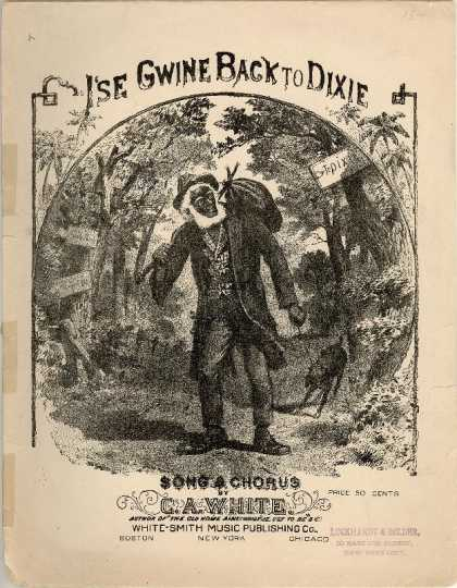 Sheet Music - I'se gwine back to Dixie