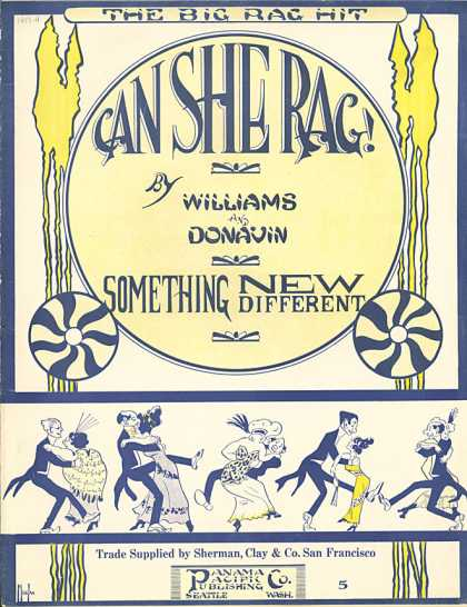 Sheet Music - Can she rag!