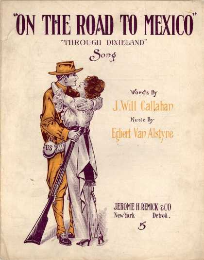 Sheet Music - On the road to Mexico through Dixieland