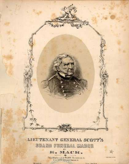 Sheet Music - Lieutenant General Scott's grand funeral march