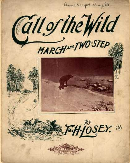 Sheet Music - Call of the wild march and two-step