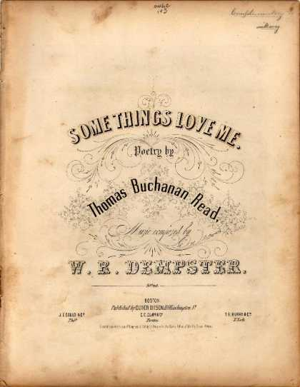Sheet Music - Some things love me