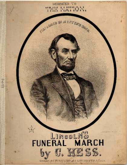 Sheet Music - Lincoln's funeral march