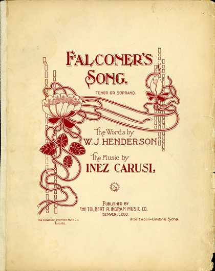 Sheet Music - Falconer's song