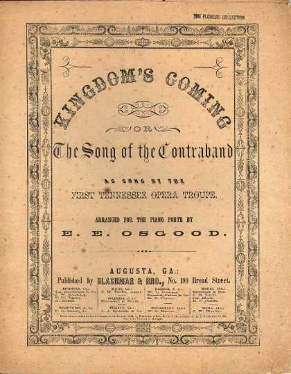 Sheet Music - Kingdom's coming; The song of the contraband