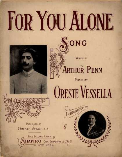 Sheet Music - For you alone