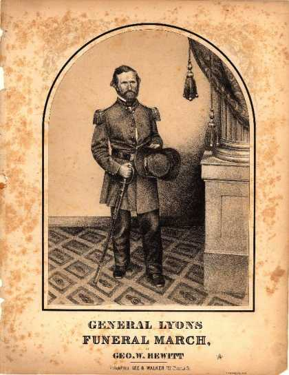 Sheet Music - General Lyons funeral march
