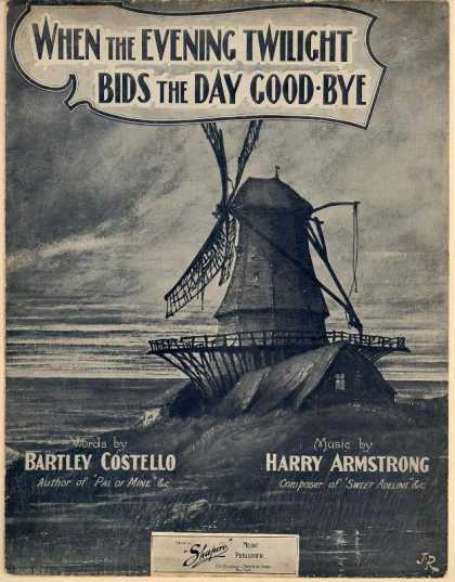 Sheet Music - When the evening twilight bids the day good-bye