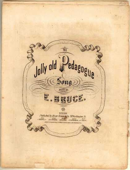 Sheet Music - Jolly old pedagogue