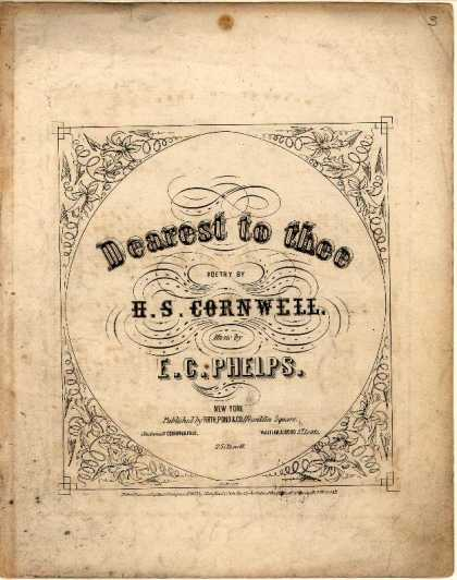 Sheet Music - Dearest to thee