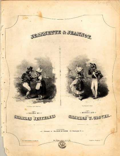 Sheet Music - Jeannette & Jeannot; Conscripts departure