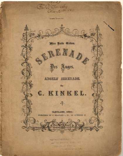 Sheet Music - Serenade des Auges; Angels' serenade
