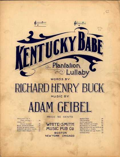 Sheet Music - Kentucky Babe; Plantation lullaby