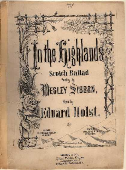 Sheet Music - In the highlands; Scotch ballad