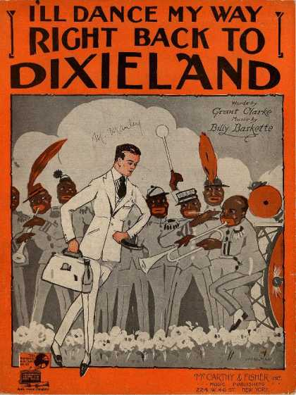 Sheet Music - I'll dance my way right back to Dixieland