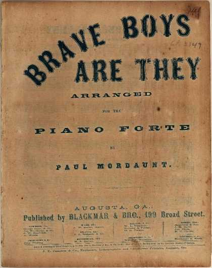 Sheet Music - Brave boys are they