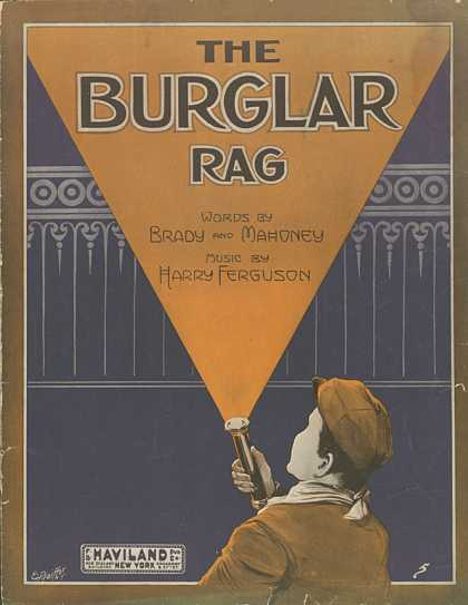 Sheet Music - The burglar rag