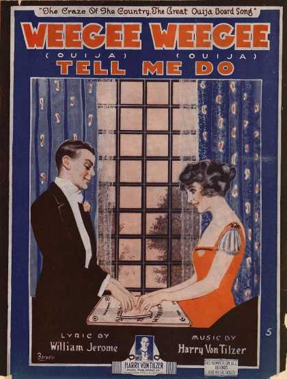 Sheet Music - Weegee weegee tell me do; Ouija ouija