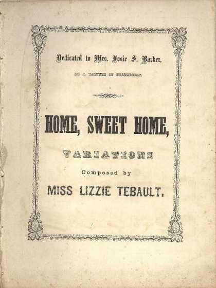 Sheet Music - Home sweet home variations