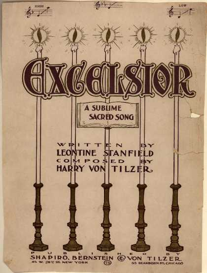 Sheet Music - Excelsior; Sublime sacred song