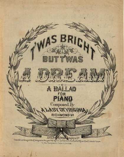 Sheet Music - T'was bright but t'was a dream