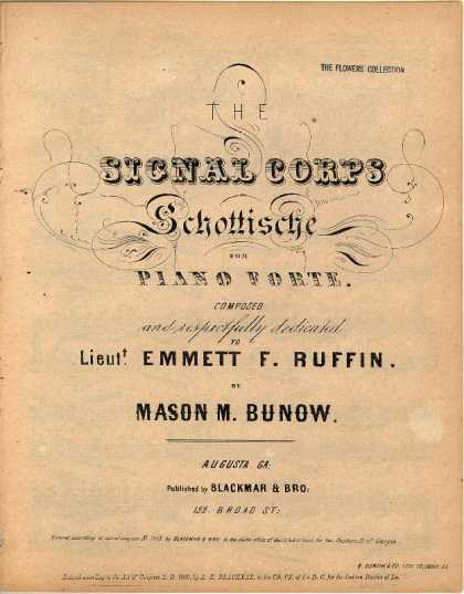 Sheet Music - The Signal Corps schottische