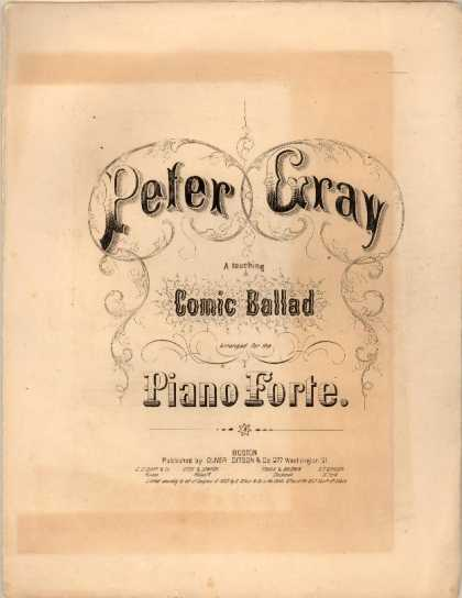 Sheet Music - Peter Gray
