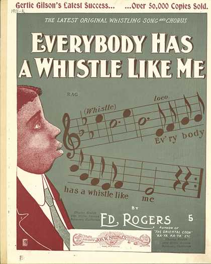 Sheet Music - Everybody has a whistle like me