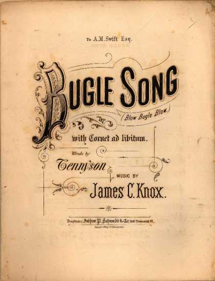 Sheet Music - Bugle song; Blow bugle blow
