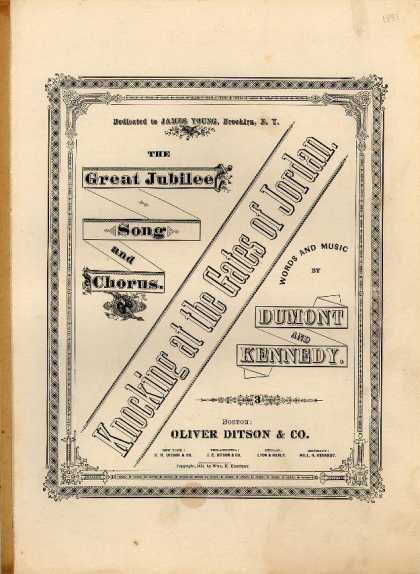 Sheet Music - Knocking at the gates of Jordan