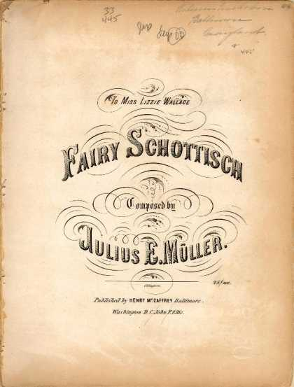 Sheet Music - Fairy Schottisch