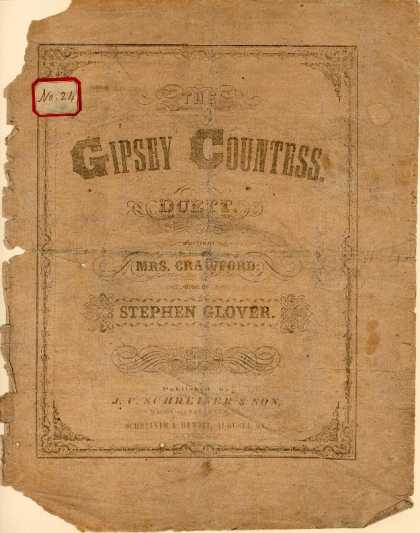 Sheet Music - Gipsey countess