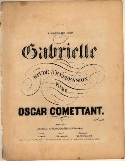 Sheet Music - Gabrielle; Etude d'expression
