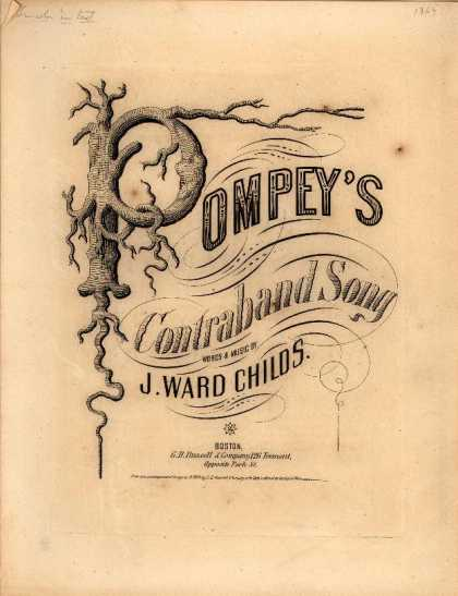 Sheet Music - Pompey's contraband song