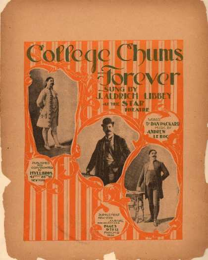 Sheet Music - College chums forever