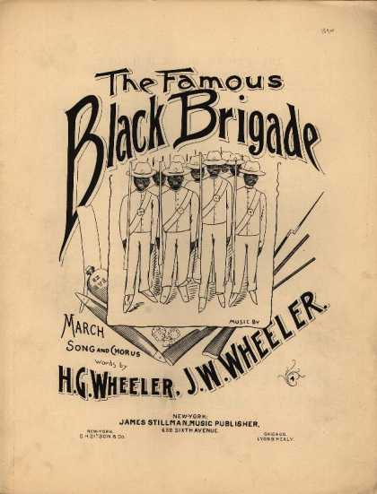 Sheet Music - The famous black brigade; March song and chorus