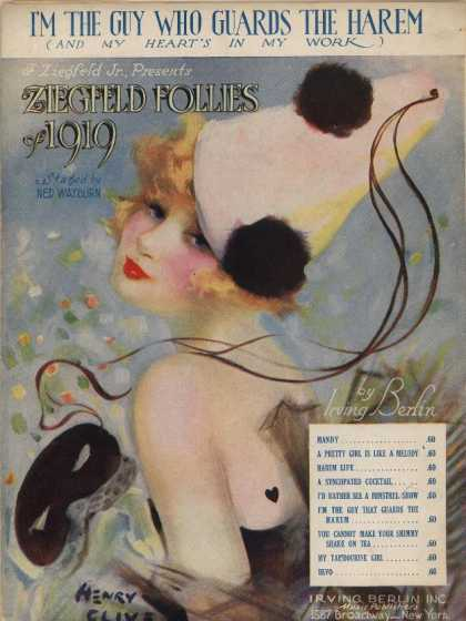 Sheet Music - I'm the guy who guards the harem and my heart's in my work; Ziegfeld Follies of