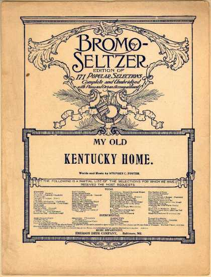Sheet Music - My old Kentucky home, Good-night