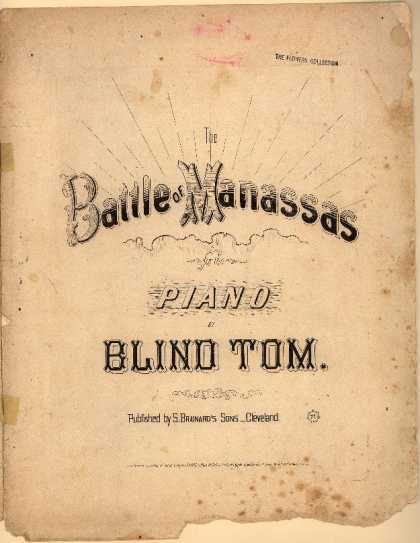 Sheet Music - Battle of Manassas